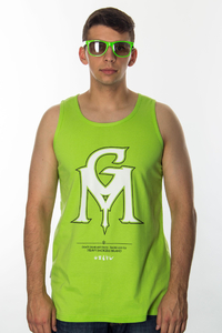 GANJA MAFIA TANKTOP COLOR NEON GREEN WHITE