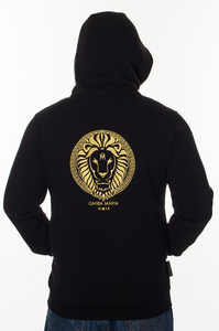 GANJA MAFIA BLUZA ZIP KA'LION BLACK-GOLD