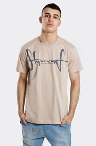 STOPROCENT T-SHIRT TMS SLIMTAG BEIGE
