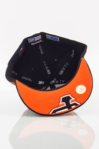 NEW ERA FULLCAP SF BLACK-ORANGE