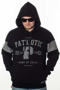 PATRIOTIC BLUZA KAPTUR P COLLEGE BLACK-GREY