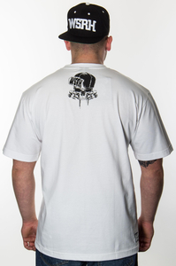 WSRH T-SHIRT SŁOŃCE WHITE BLACK