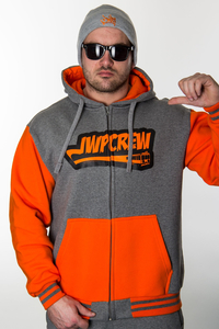 JWP ZIP GREY-ORANGE