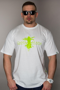 GANJA MAFIA T-SHIRT TOP WHITE