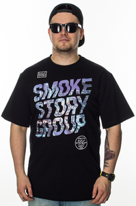 SMOKE STORY GROUP T-SHIRT SMG SLANT BLACK