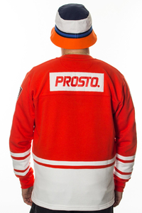 PROSTO BLUZA HOCKEY STRIPES RED