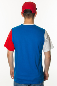 PATRIOTIC T-SHIRT CLS LAUR DOUBLE BLUE-WHITE-RED