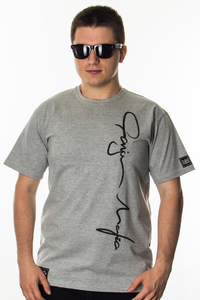 GANJA MAFIA T-SHIRT SIGNATURE BIG GREY