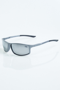 NEW BAD LINE OKULARY BIKER GREY-BLACK MAT RUBBER SILVER MIRROR 1047