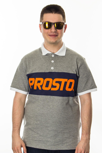 PROSTO KLASYK POLO TUMMY GREY