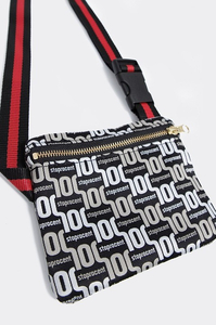 STOPROCENT SASZETKA S PATTERN BLACK-GOLD