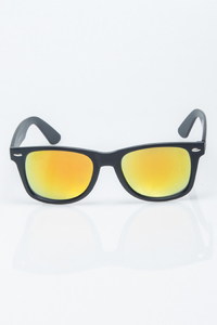 NEW BAD LINE OKULARY CLASSIC BLACK MAT YELLOW MIRROR 1202