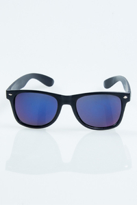 NEW BAD LINE OKULARY CLASSIC BLACK MAT BLUE MIRROR 1035