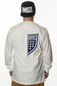 PROSTO KLASYK LONGSLEEVE ON HALF WHITE