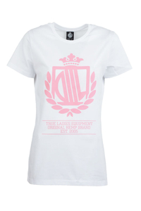LADY DIIL T-SHIRT LD HARVARD WHITE-PINK