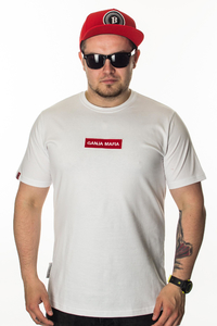 GANJA MAFIA T-SHIRT GM RED PATCH WHITE-RED