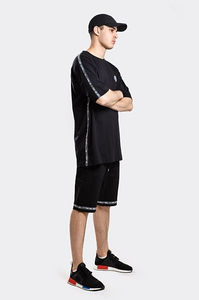 STOPROCENT T-SHIRT TM STRIPE18 LIGHT BLACK