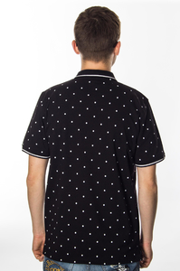 PATRIOTIC POLO CLS DOTS BLACK