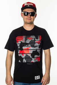 PATRIOTIC T-SHIRT WORLD CAMO BLACK