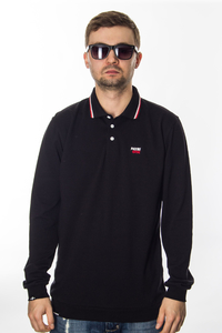 PATRIOTIC POLO LONG CLS BLACK