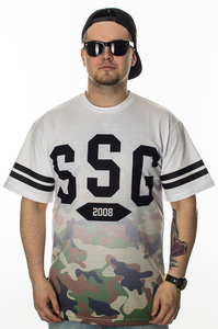 SMOKE STORY GROUP T-SHIRT GRADIENT MORO WHITE