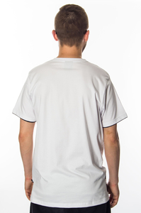 CHADA T-SHIRT SCRAP WHITE-BLACK