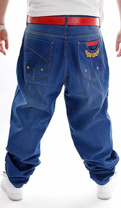 STOPROCENT JEANSY BAGGY SNAP BLUE
