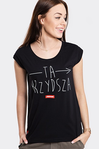 STOPROCENT T-SHIRT TDB BRZYDSZA BLACK