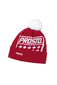 PROSTO KLASYK CZAPKA ZIMOWA WINTERCAP SHIELD RED