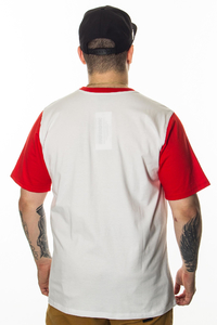 PATRIOTIC T-SHIRT KEEP IT LOCAL WHITE-RED