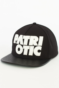 PATRIOTIC SNAPBACK CLS LEATHER BLACK-WHITE