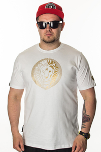 GANJA MAFIA T-SHIRT KA'LION 5050 WHITE-GOLD