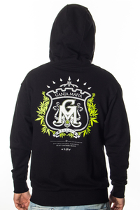 GANJA MAFIA BLUZA ZIP HERB NEW BLACK