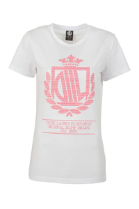 LADY DIIL T-SHIRT LD PATTERN WHITE