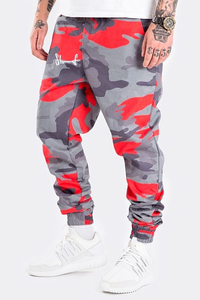 STOPROCENT JOGGERY SJ CLASSIC17 CAMO RED-GREY