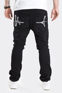 STOPROCENT SPODNIE SJ SLIM LOW CLASSIC BLACK