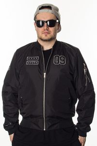GANJA MAFIA KURTKA BOMBER GENERAL BLACK-GREY