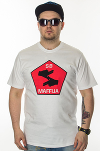 SB MAFFIJA T-SHIRT BIG HANDS WHITE