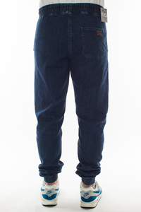 SMOKE STORY GROUP JOGGERY SLIM JEANS HAFT MEDIUM BLUE