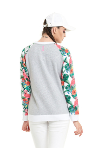 LUCKY DICE BLUZA REGLAN FLOWERS GREY