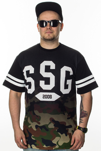 SMOKE STORY GROUP T-SHIRT GRADIENT MORO BLACK