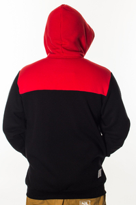 EL POLAKO BLUZA ZIP KAPTUR THREE COLORS BLACK-RED