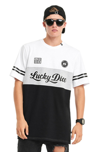 LUCKY DICE T-SHIRT NEW COLLEGE BLACK