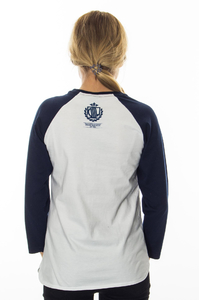 LADY DIIL LONGSLEEVE TAG WHITE-NAVY