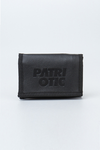 PATRIOTIC PORTFEL CLS LEATHER STAMP1 BLACK
