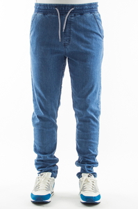 SMOKE STORY GROUP JEANSY STRETCH STRAIGHT FIT GUMA BLUE