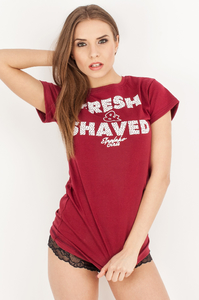 EP.GIRLS T-SHIRT FRESH AND SHAVED BORDO