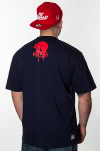 WSRH T-SHIRT SŁOŃCE NAVY RED