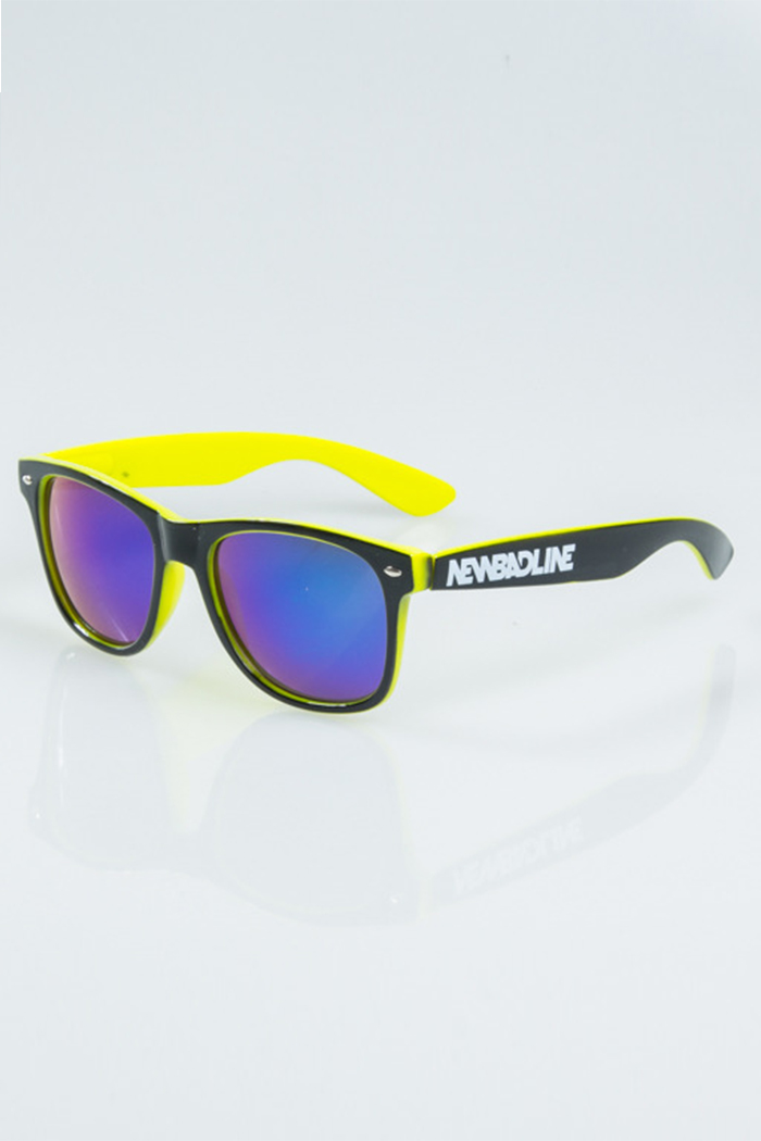 NEW BAD LINE OKULARY CLASSIC INSIDE BLACK-NEON FLASH GREEN MIRROR 1172