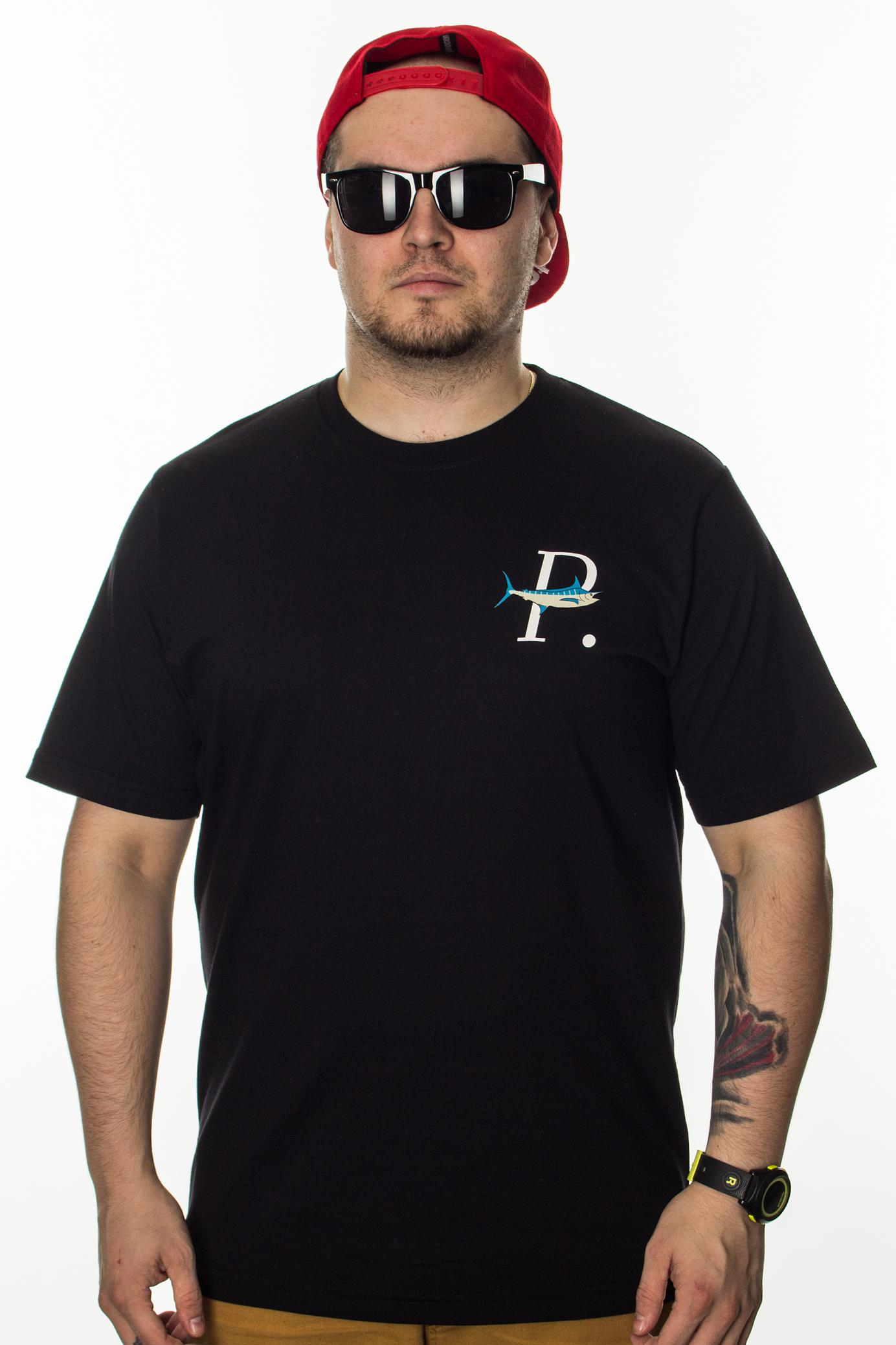 PROSTO T-SHIRT SUNSET ACID BLACK